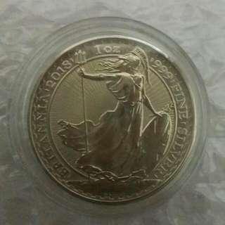 1 Oz Brittania Silver Coin 2018