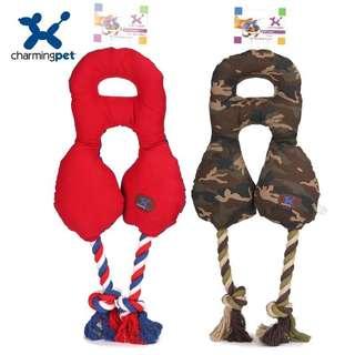 。美國Charming Pet 狗狗玩具。K9 雙頭拔河系列
