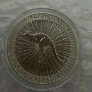 1 Oz Australian Kangaroo Silver Coin 2018