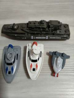 Toy ships - police, rescue, patrol