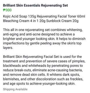 Brilliant Skin Essentials Rejuvinating SET
