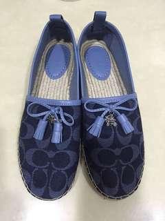 COACH全新草編平底鞋6.5號