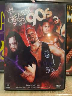 WWE WWF DVD GREATEST STARS OF THE 90S STONE COLD UNDERTAKER HITMAN ROCK