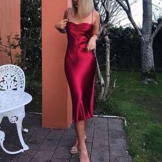 NWOT Bec and Bridge Decadent Dress Cherry Red