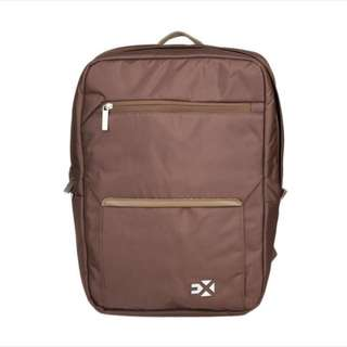 EXSPORT DEROCA ZIP BROWN LAPTOP BACKPACK