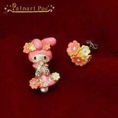 New unused ■ My Melody Palnart Poc earrings Pal diisocyanate pox ■