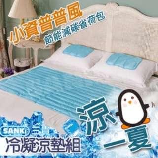重量級超清涼萬用冰涼墊 冷凝墊組 (1大2小)