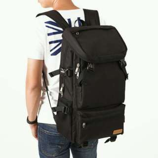 large size backpack black colour