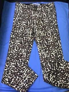 Urban star imported leopard pants size 6y