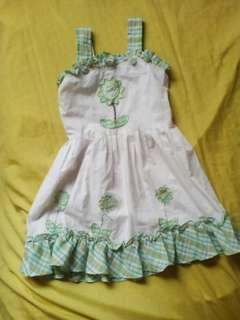 Green Flower Dress