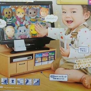 (可直接購買)日本PEOPLE趣味聲光電視玩具組合