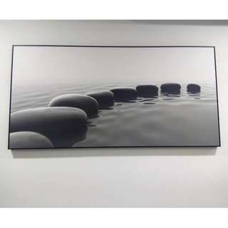 Large Wall Picture Frame Zen Stone Pebbles Water