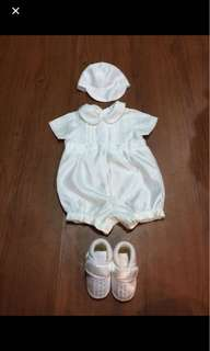 Baptismal set (baby boy) 3-6 months