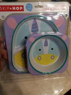 Skip hop unicorn plate set
