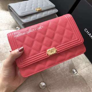 Boutique Quality Chanel Leboy Woc - hot pink