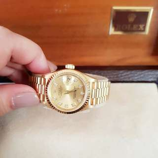 Rolex datejust Solid Gold