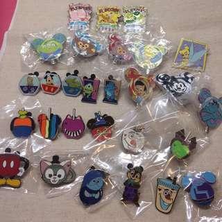 香港迪士尼 徽章 襟章 Pins