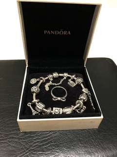 Pandora Bracelet, Charms and Ring