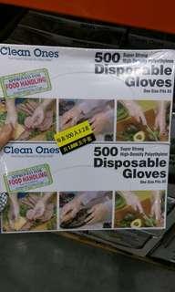 🚚 Costco代購商品。Clean ones拋棄式塑膠手套500入