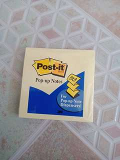 Post It Pop-up Notes Yellow 1 Pad