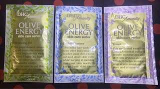 DHC Olive Energy Skin Care Series 3-step skincare sample set