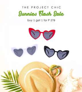 Buy 1 Take 1 Heart Sunnies