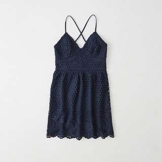 Abercrombie & Fitch Navy Lace Dress