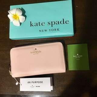 Kate Spade Baby Pink Long Wallet