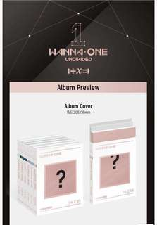 [PRE-ORDER] WANNA ONE UNDIVIDED ALBUM