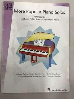 More Popular Piano Solos Level 2