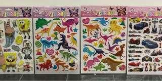 3D cartoons sticker