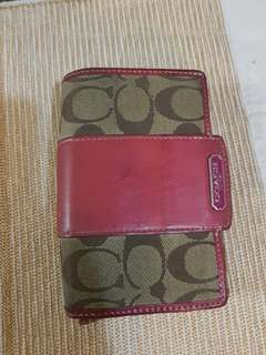 Coach fuschia wallet