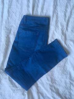 Cropped skinny denim size 27