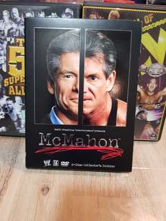 Reserved WWE WWF VINCE MCMAHON 3 DVDS STORY