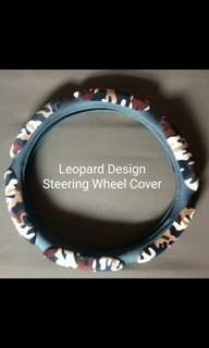 Leopard Design Soft Steering Wheel Cover