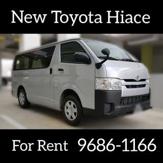 New Toyota Hiace For Rent