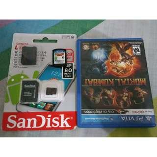 PS Vita Games, Memory Card  and SD2Vita