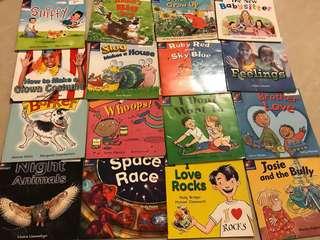 Rocket English Readers Blue & Green Levels [K2] 16 books