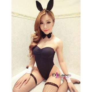 Lingerie Black Rabbit Costume Cosplay Sexy Sleepwear Set