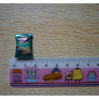 Dollhouse Miniature Lay's Potato Chips Set Of (4pcs)