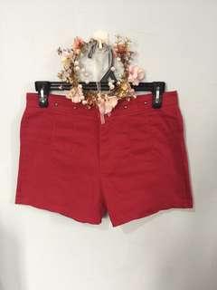Korean preloved mid waist shorts 26-27 waist