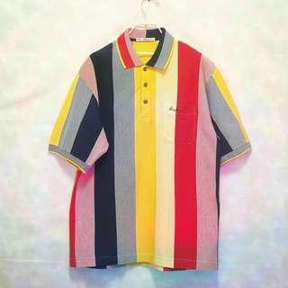 三件7折🎊 Hardy Amies Casual polo衫 短袖 多色 直條紋 英牌 極稀有 老品 復古 古著 vintage