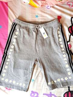 Brand New Adidas x Pharrell Daisy Floral Grey Sweat Shorts.
