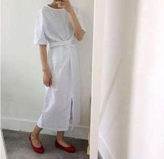 BROWN Front Slit Dress