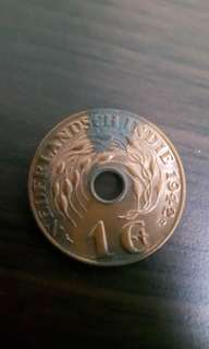Uncirculated Nederlandsch indie 1942 1c