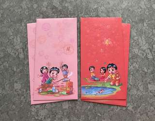4pcs NETS kids (Network of Electronic Transfers, Singapore) red packet / ang pow pao