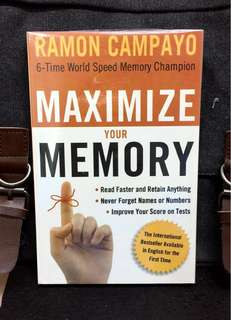 《New Book Condition + 6-Time World Speed Memory Champion》Ramon Campayo - MAXIMIZE YOUR MEMORY :