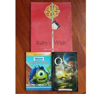 Ruby's Wish ~ SCHOLASTIC ~ Oz~ The Great Powerful~ Walt Disney ~Disney Monsters University~ DARE TO SCARE
