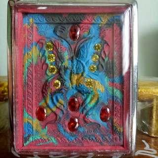 Kruba Krissana Block C Benjarong Butterfly Amulet