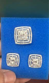 Imported set in whitegold